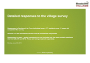 Detailed Responses to the Village survey website