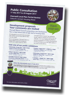 cherwell council public consultation 2017
