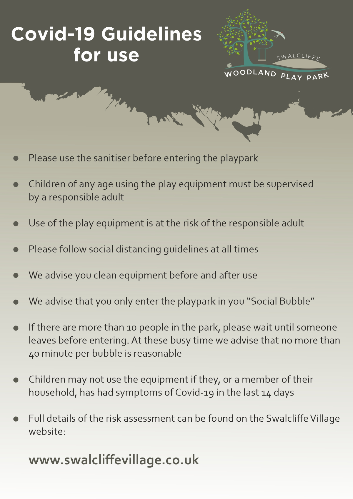 Reopen Notice of the woodland play park